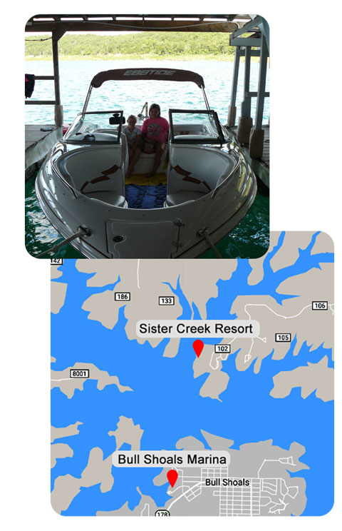 Sister Creek Dock and Map